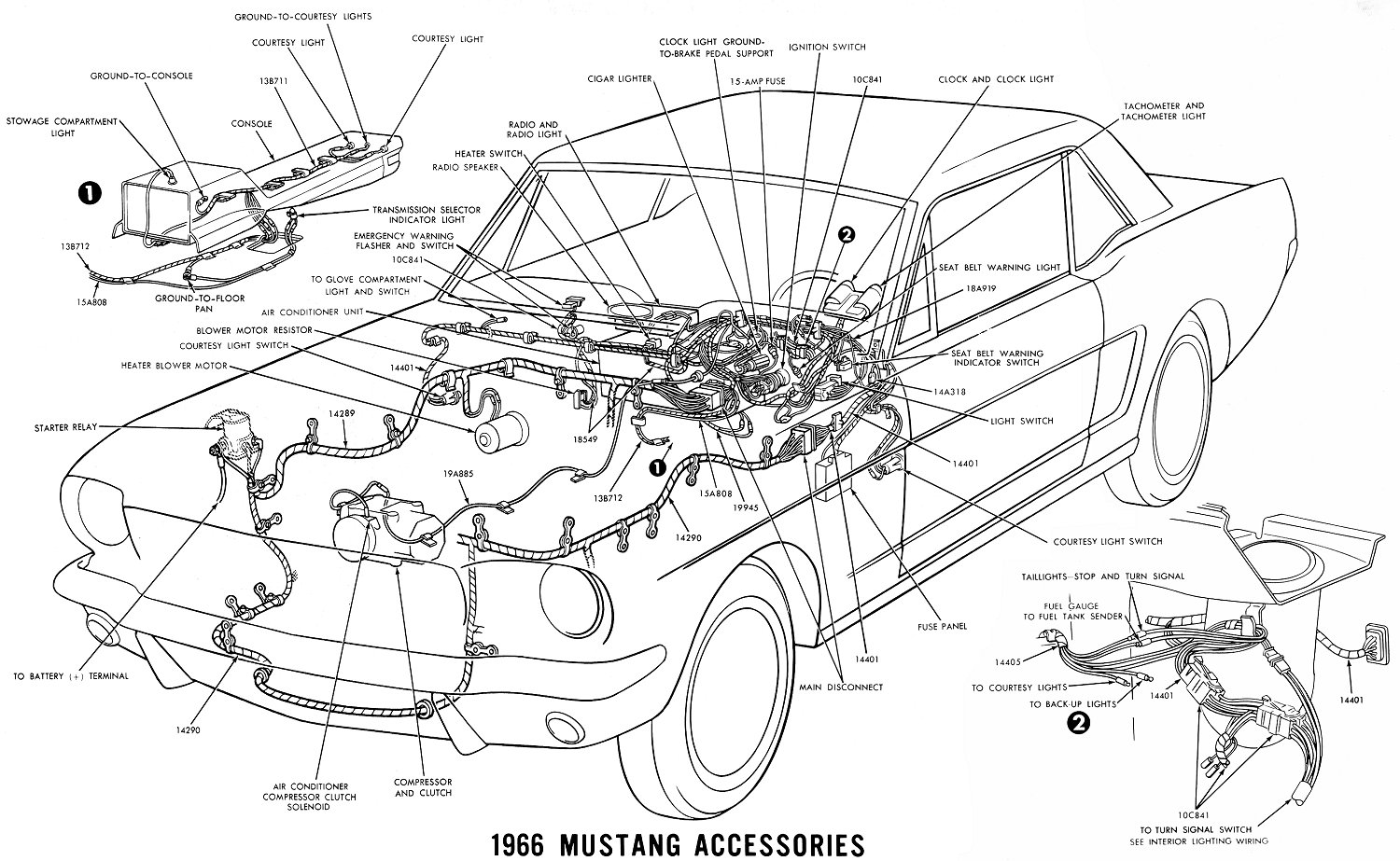 Vintage Mustang Wiring Diagrams Basic Click For Details Diagram With Accessory And 66 Accessories Schematic