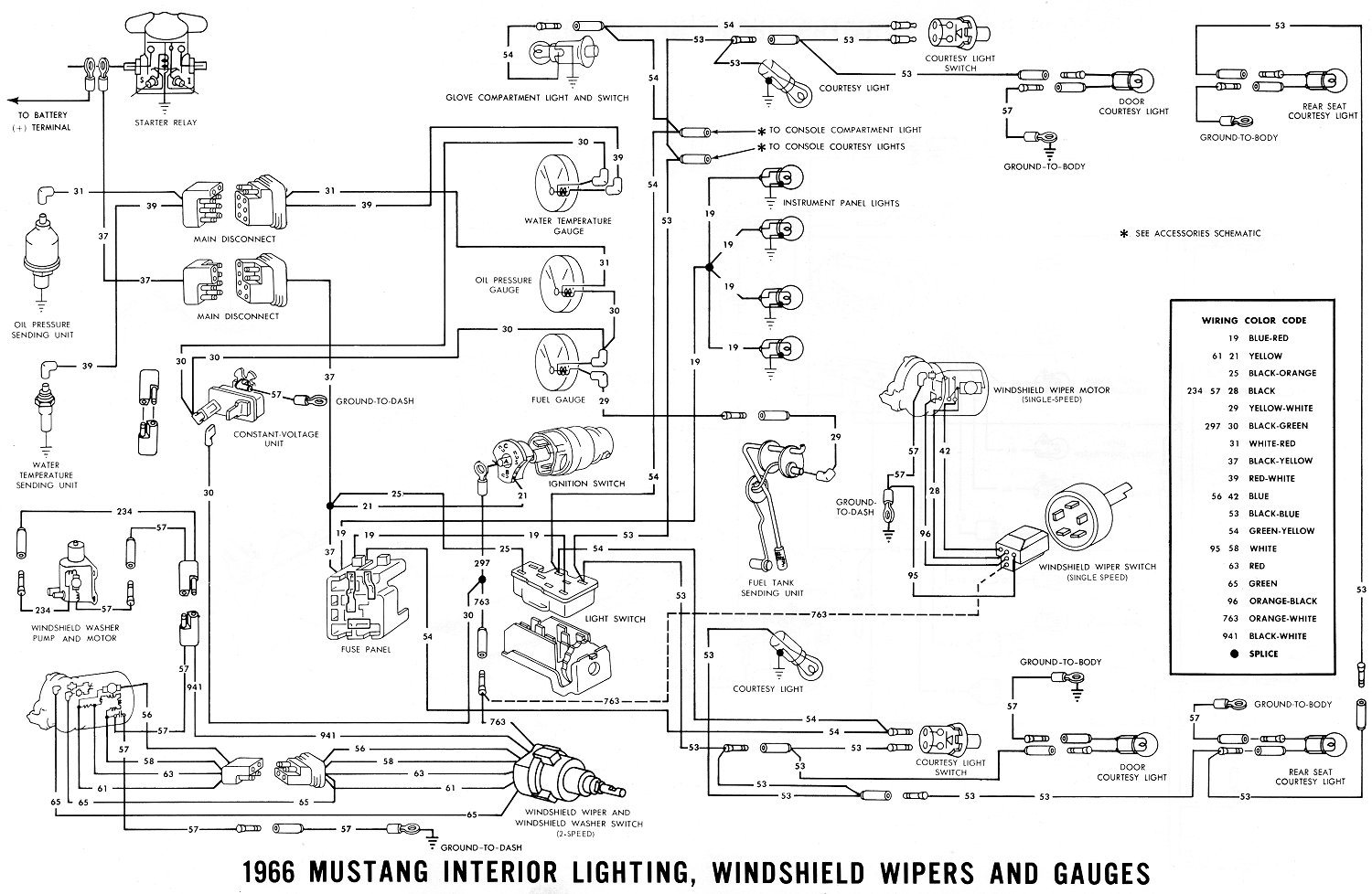 Vintage Mustang Wiring Diagrams Light And Schematic 66 Interior Lighting Schematics